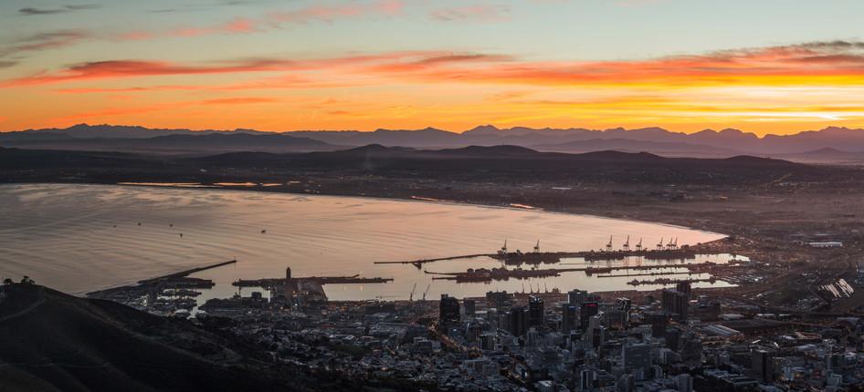 Cape Town Harbor Panorama