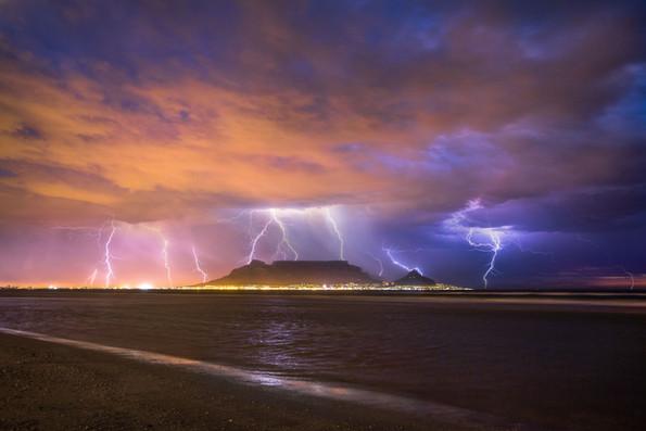Table Mountain Lighting Storm