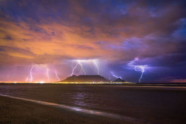 Table Mountain Lighting Storm