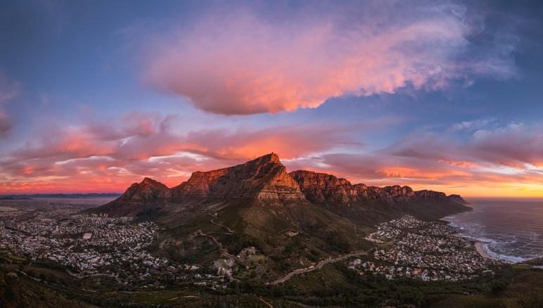 Table Mountain Sunset Pano