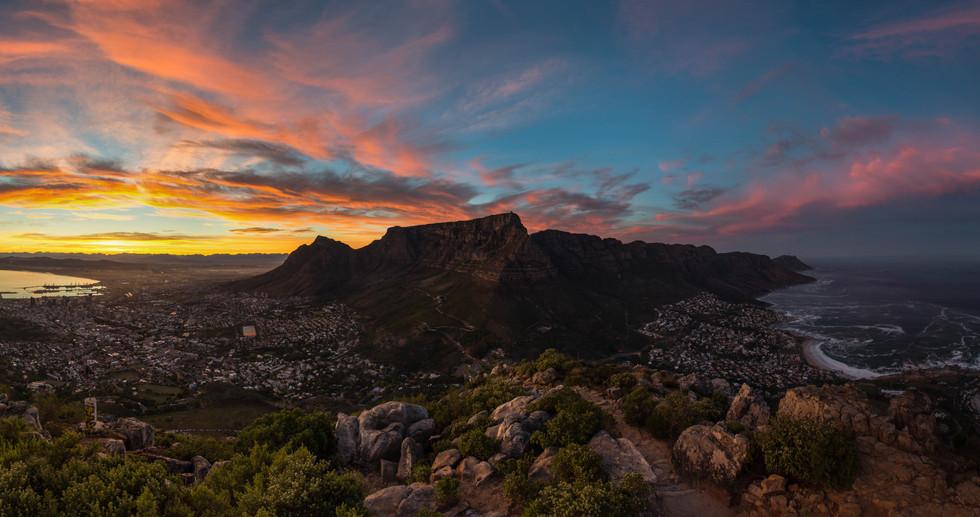 Table Mountain Sunrise Panorama