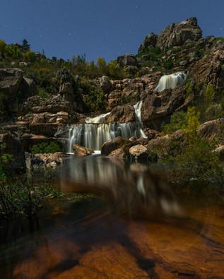 Beaverlac Night Waterfall