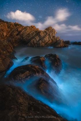 Bioluminescence Waterfall