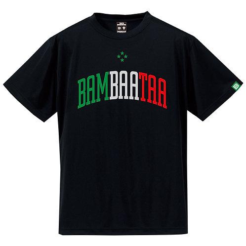 BBTトリコロールシルキードライTシャツ ブラック