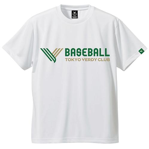 TVB BASEBALL LogoドライTシャツ ホワイト