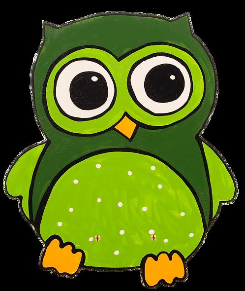 """Wandlampe """"Eule grün"""""""