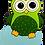 Thumbnail: Eule grün