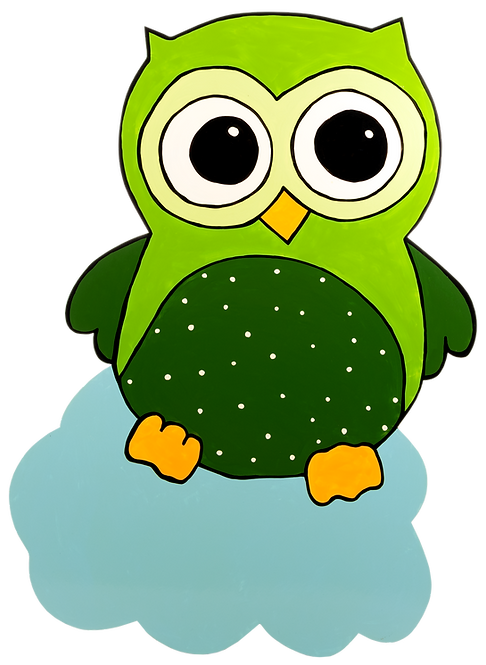 Eule grün