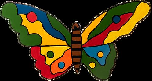 Schmetterling farbig