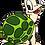 "Thumbnail: Wandlampe ""Schildkröte rosa"""