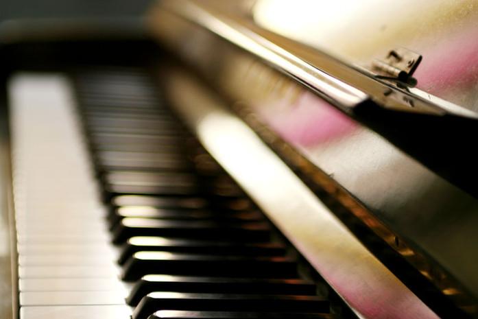 Primer plano de piano