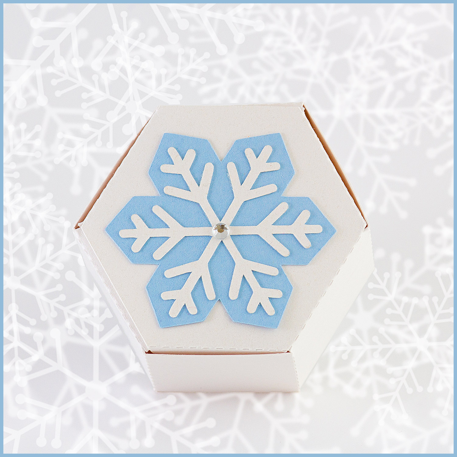Simone Snowflake Favour Box