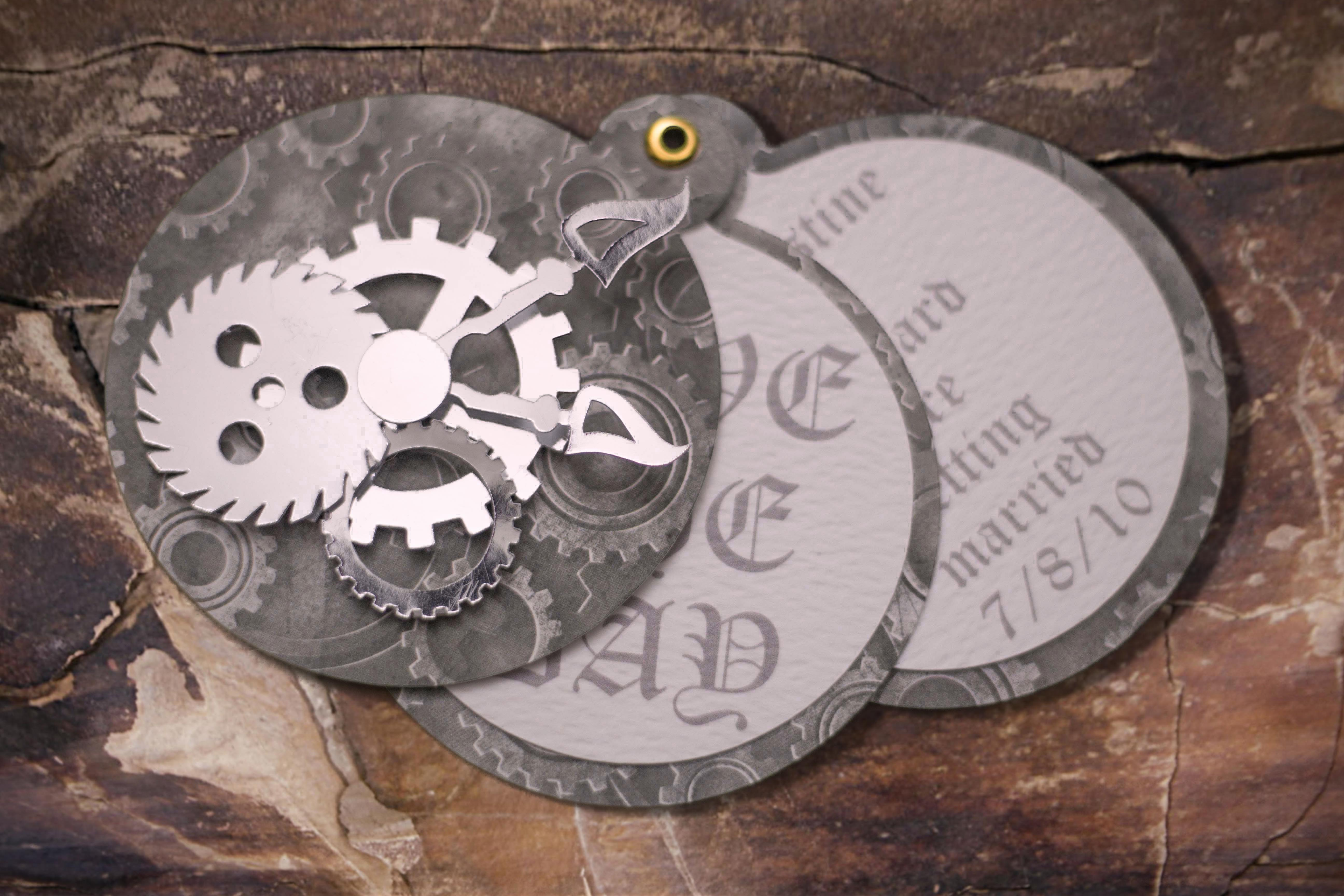 Pocket Watch Save the Date