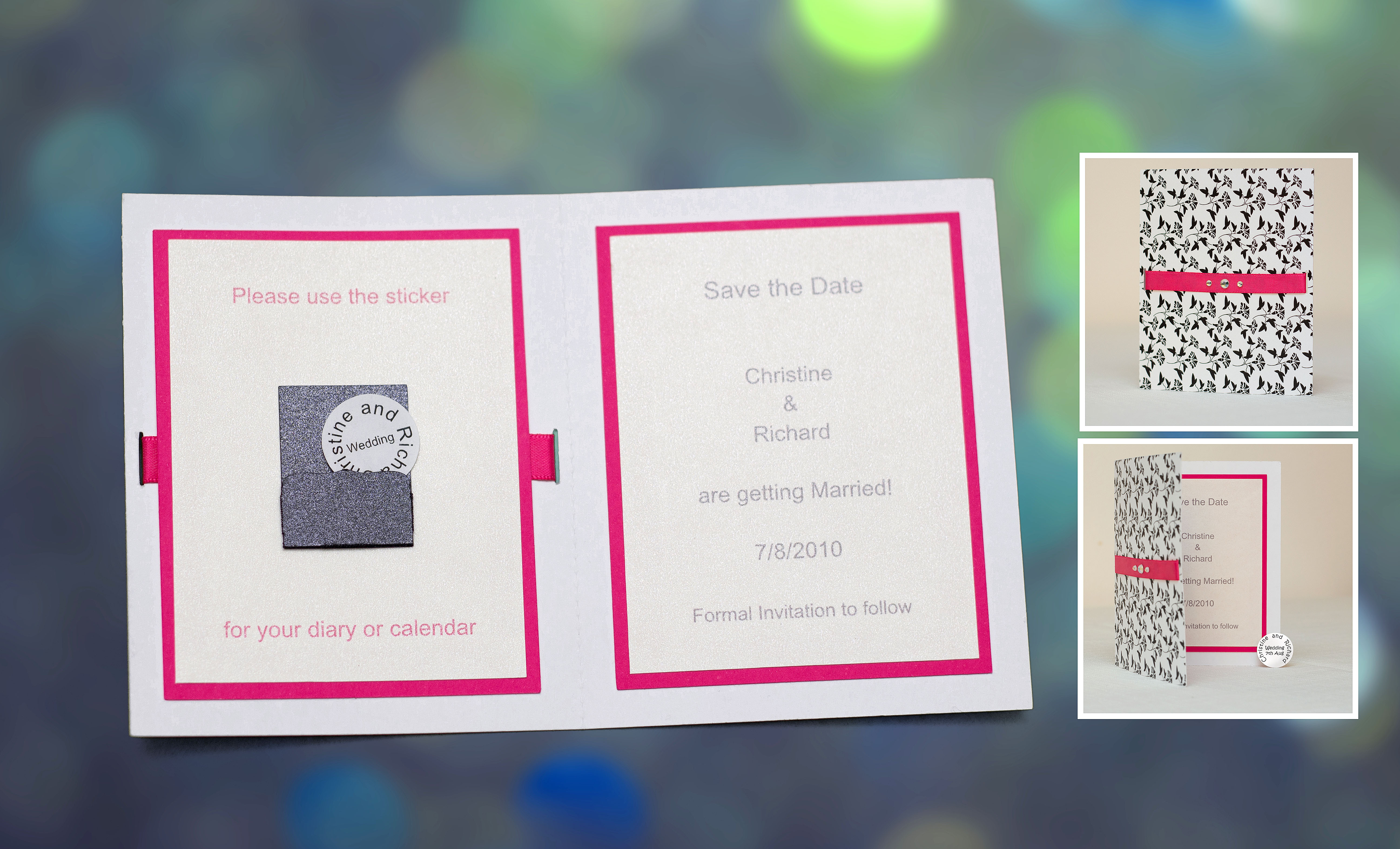 Diary Sticker Save the Date