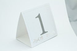 Cut out Table Number/Menu