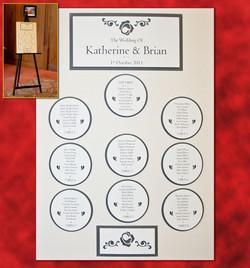 Katherine & Brian's Table Plan