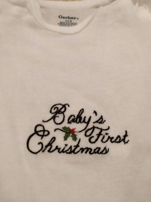 Embroidered Gerber Onsie