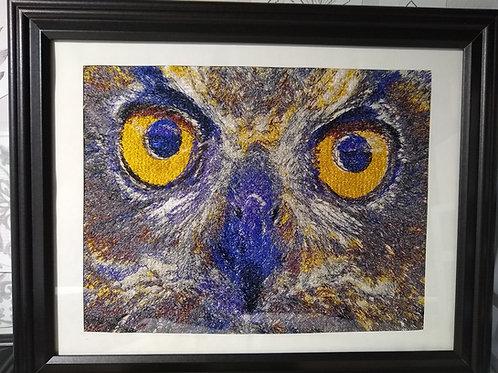 Yellow Eyed  Owl