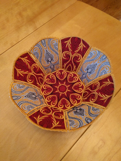 Elegant Embroidered Lace Bowl