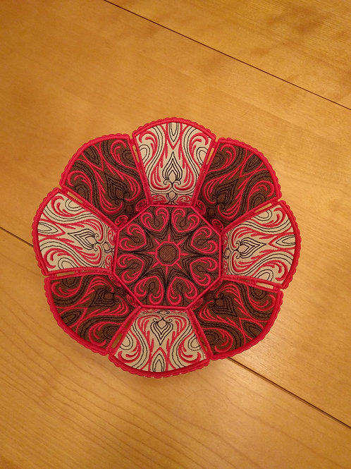 Elegant Fabric and Lace Bowl