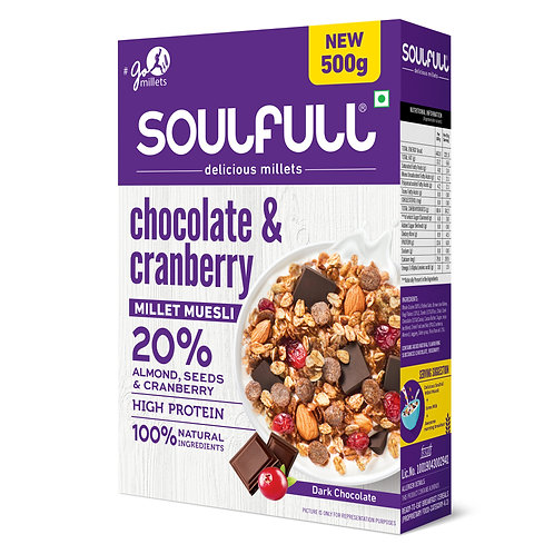 Soulfull Millet Muesli with Chocolate & Cranberry
