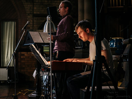 With pianist Christian Fields at St Agnes' Church, Longsight, Manchester