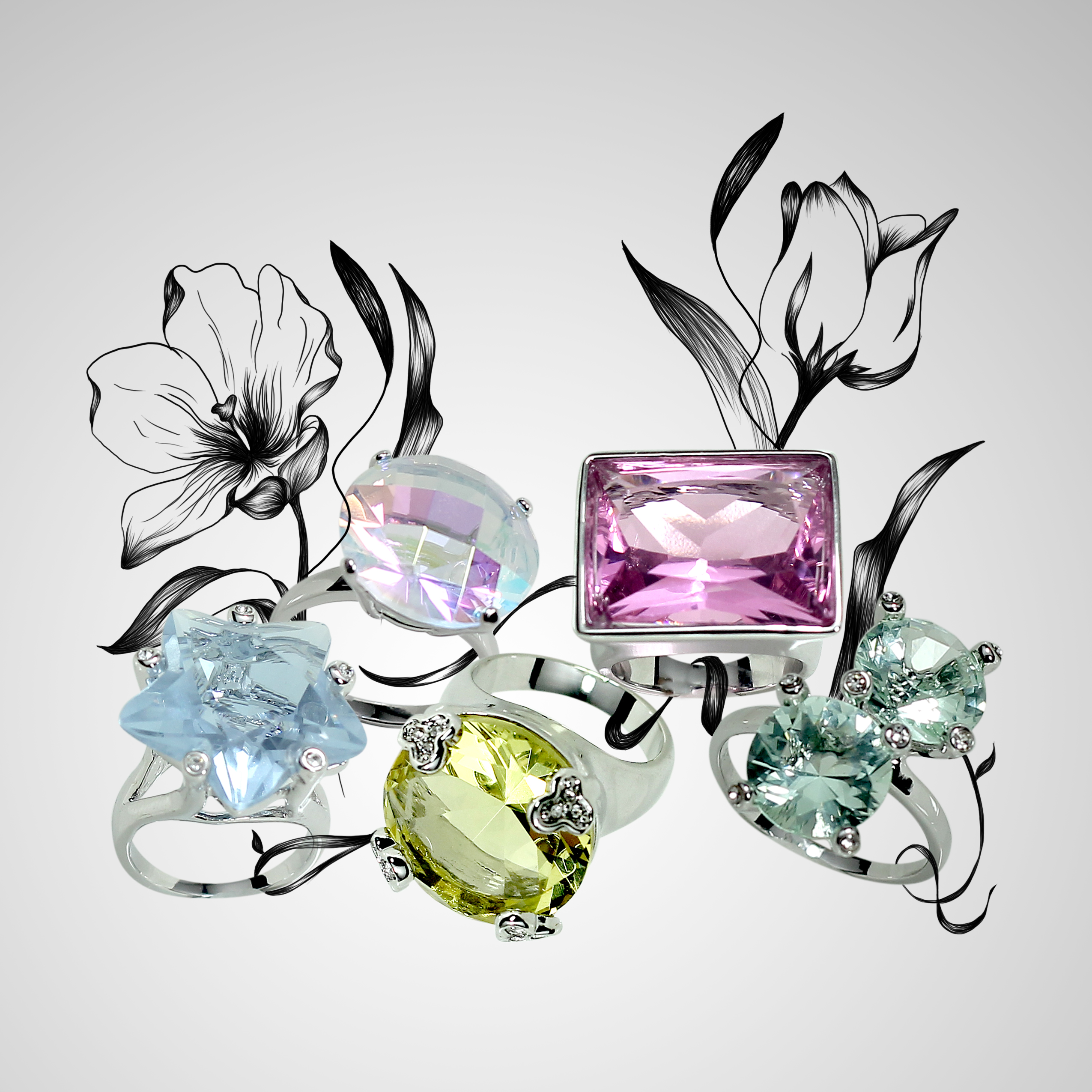 Glamour Rings Spring Ad