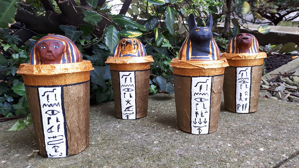 Kids Crafts Canopic Jars