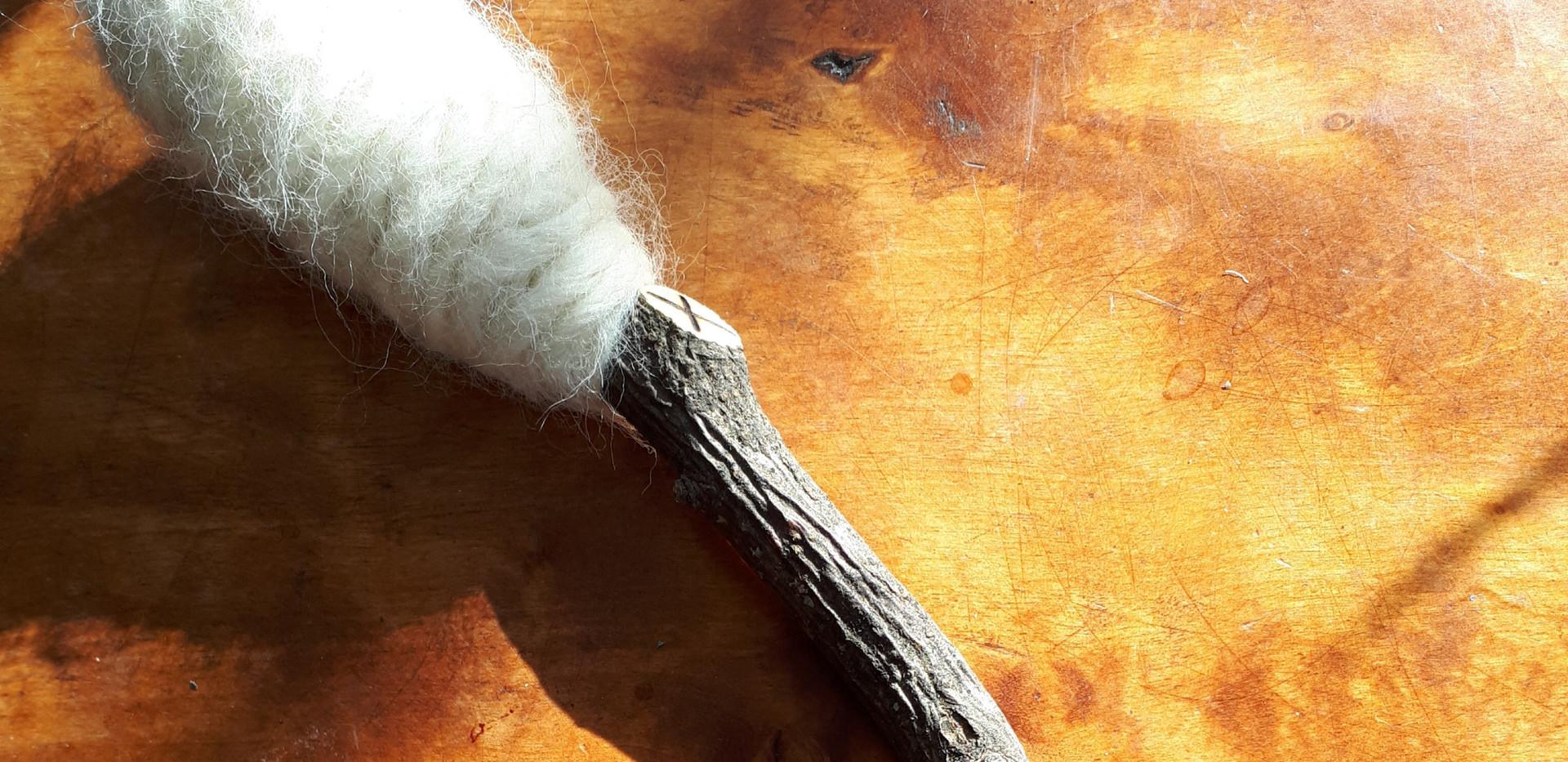 Epletre og ubehandlet Gotlandsk ull