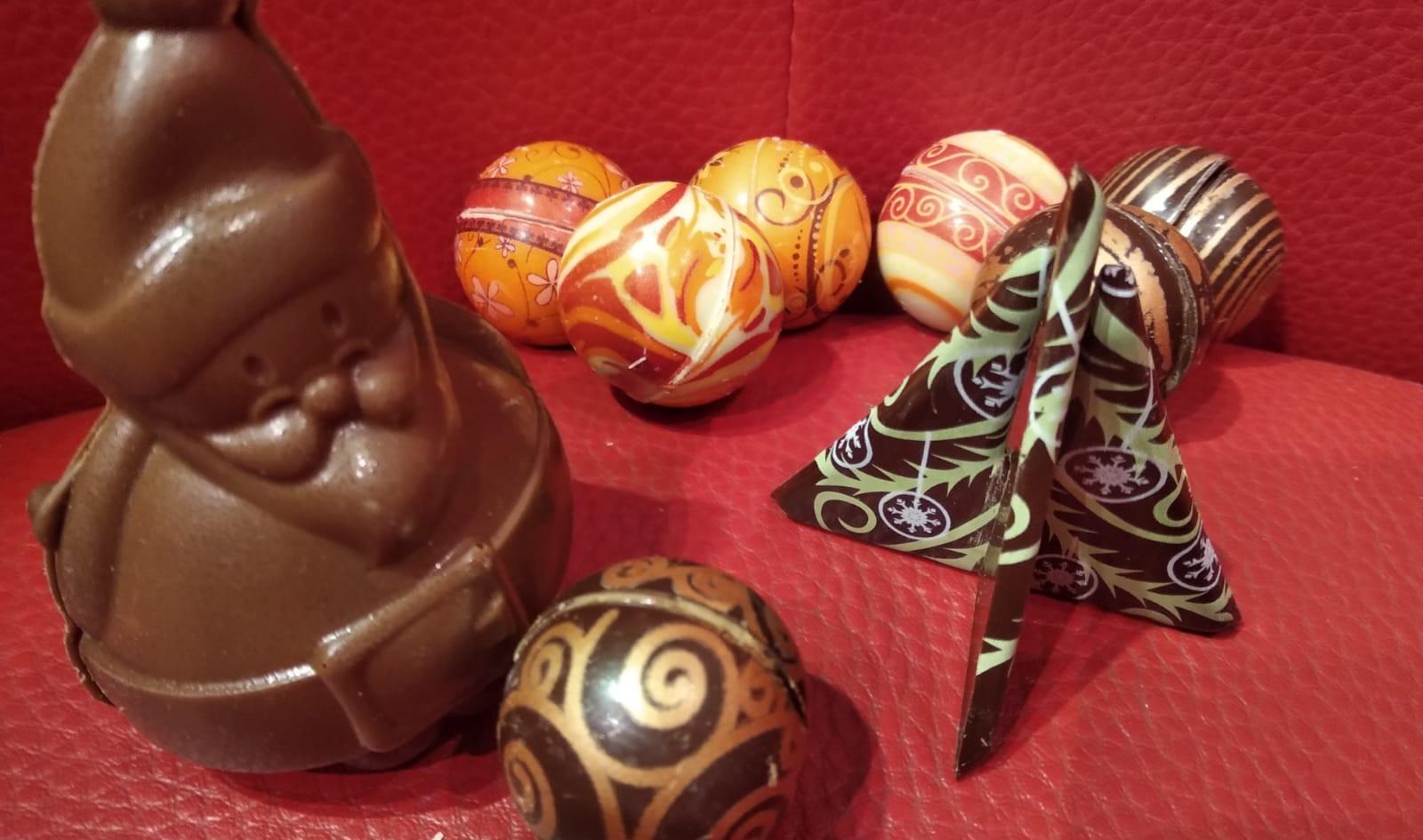 Pour décorer vos tables de fêtes, ou, faire un petit cadeau chocolaté.