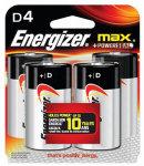 ENER 4PK D Alk Battery