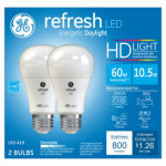 GE 2PK 10W A19 Ref Bulb