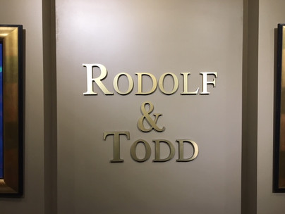 Rodolf &Todd Interior Signage
