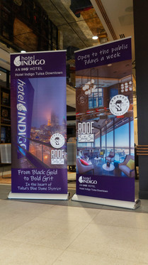 Hotel Indigo Retractable Banners