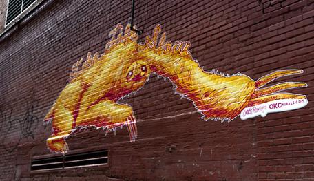 """Tulsa Art Alley """"Take It Slow"""" Sloth"""