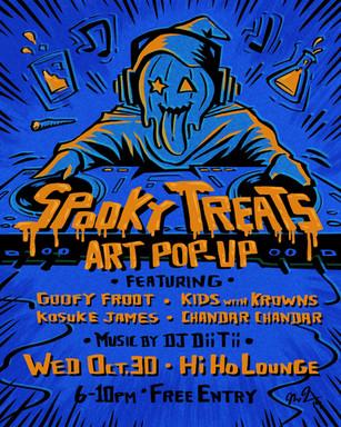 Spooky Treats event flyer