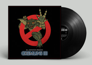 "Album art and layout for Hamilton ON one-man band B.A. Johnston's ""Gremlins III""."