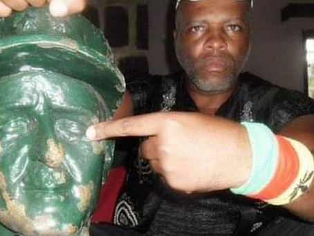 The Cameroonian waging war against a French war hero's statue