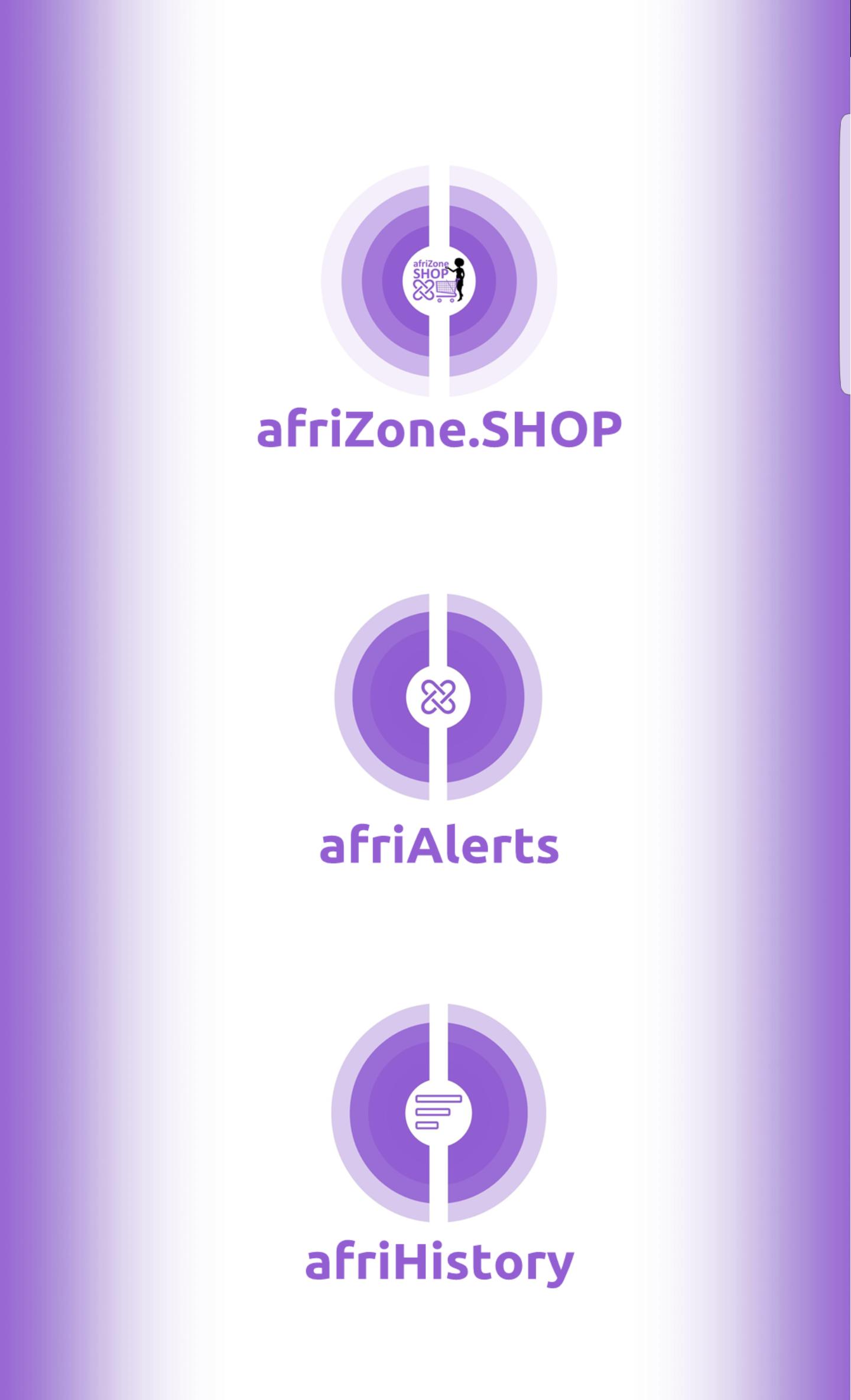 UmojApp Menu_afriZone.SHOP