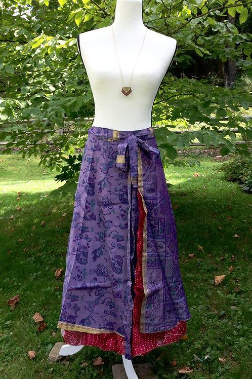 Crimson & Clover Sari Silk Skirt - Ankle Regular