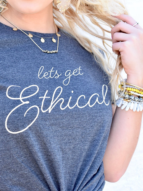 Let's Get Ethical Cropped Tee