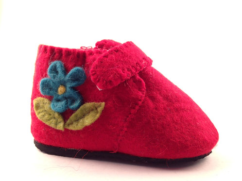 Scarlet Flower Zootie Booties - Toddler