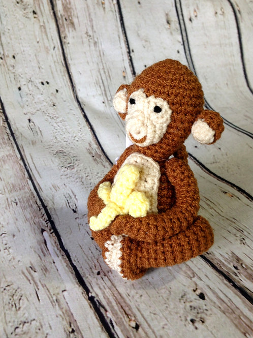 Crocheted Monkey Rattle