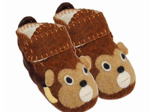 Funny Monkey Zootie Booties - Toddler