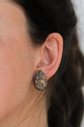 Teardrop Horn Earrings by Atelier Calla