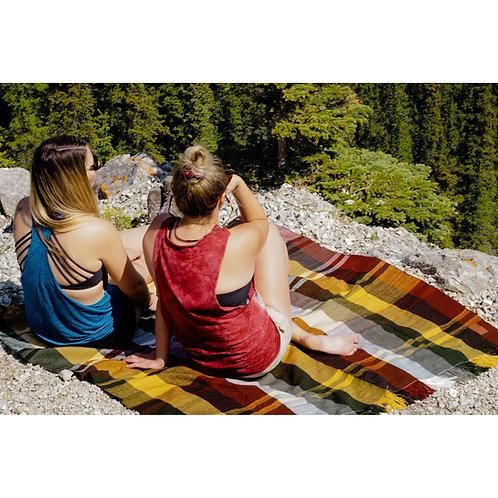 Hand-Woven Plaid Picnic Blanket