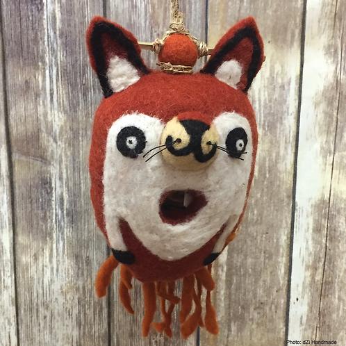 Friendly Fox Felted Birdhouse