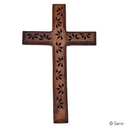 Shesham Wooden Wall Cross