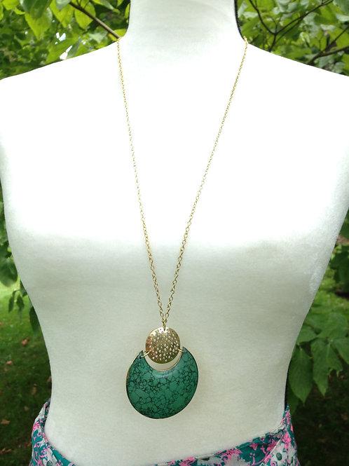 Tara Stone Necklace - Crescent
