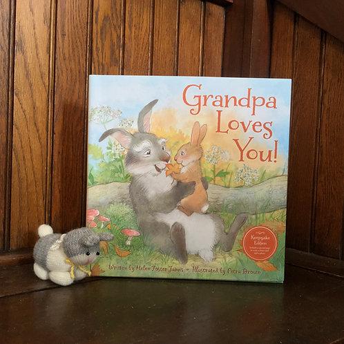 Grandpa Loves You Book + Bunny Bundle